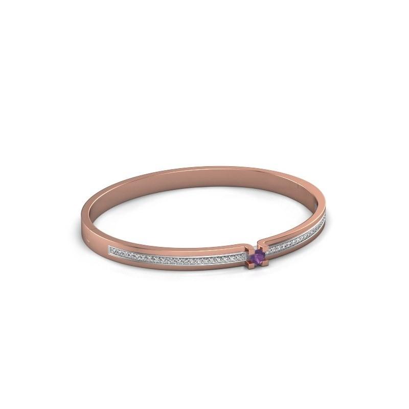 Armband Myrthe 585 rosé goud amethist 4 mm