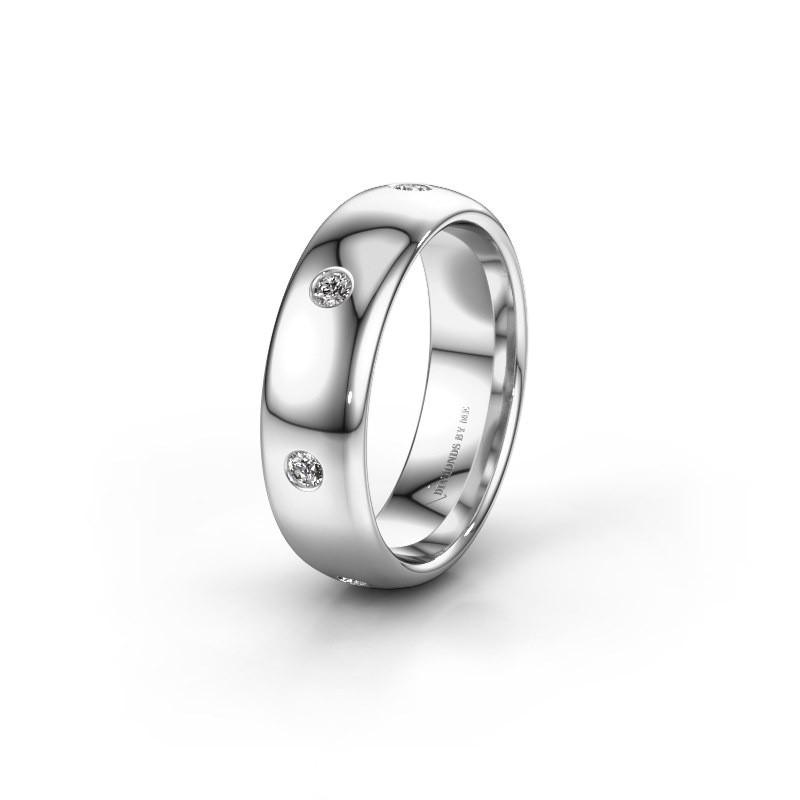 Wedding ring WH0105L36BP 585 white gold lab grown diamond ±0.24x0.08 in