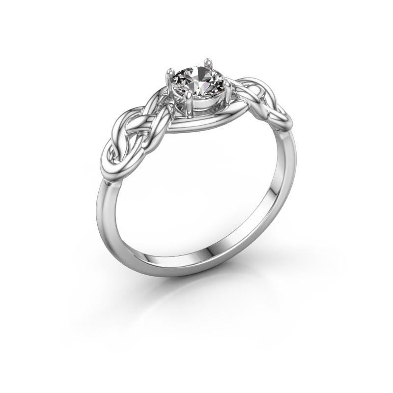 Ring Zoe 925 zilver diamant 0.40 crt