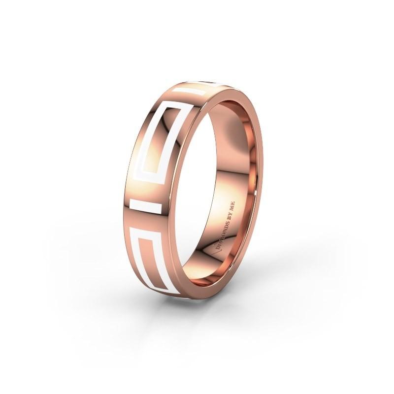 Trouwring WH2228M25A 375 rosé goud ±5x1.7 mm
