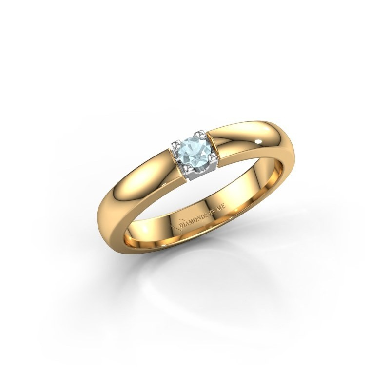 Engagement ring Rianne 1 585 gold aquamarine 3 mm
