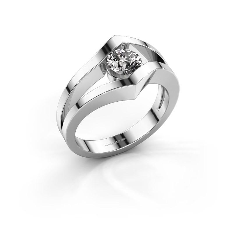 Ring Elize 585 witgoud diamant 0.50 crt