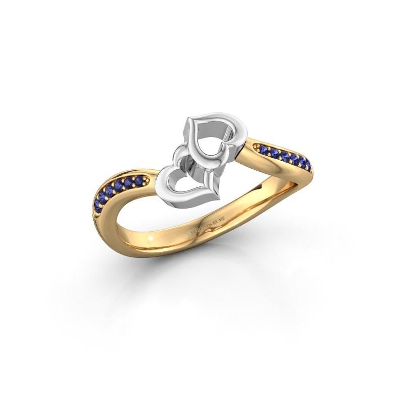 Ring Xaviera 585 goud saffier 1.5 mm