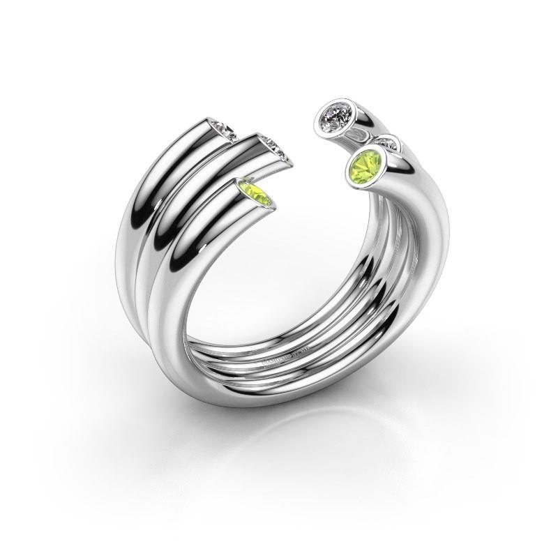 Ring Noelle 585 white gold peridot 2.4 mm