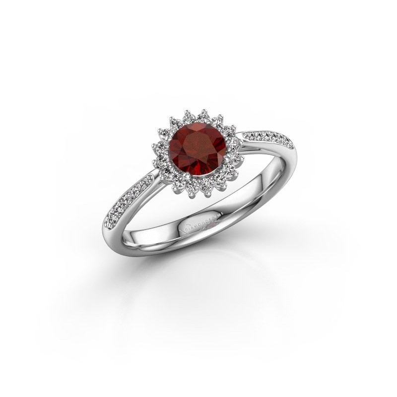 Engagement ring Tilly RND 2 925 silver garnet 5 mm