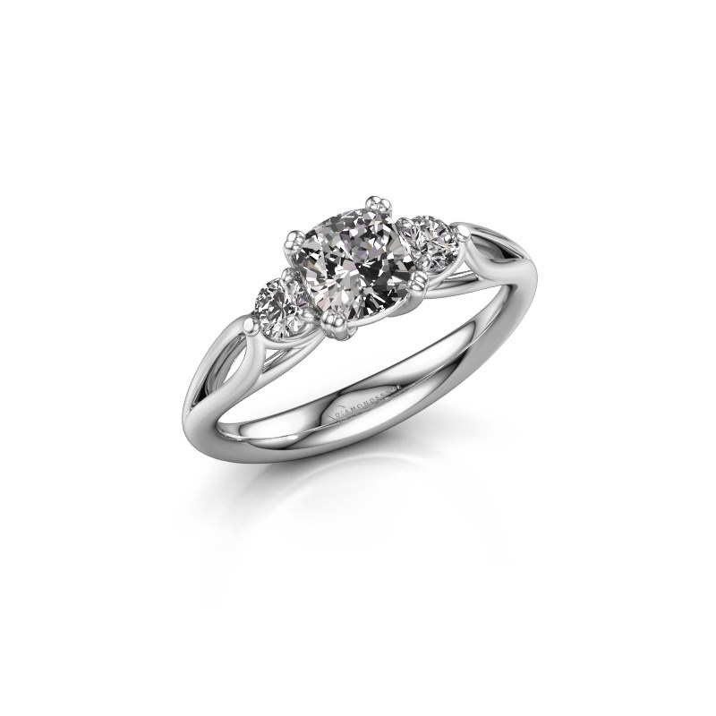 Verlovingsring Amie cus 585 witgoud diamant 1.20 crt