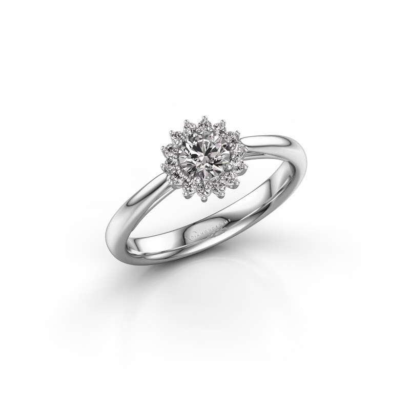 Engagement ring Tilly RND 1 585 white gold zirconia 4.2 mm