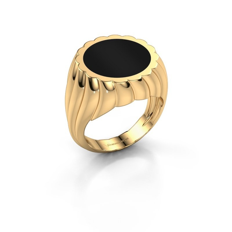 Zegelring Mano 585 goud onyx 13 mm