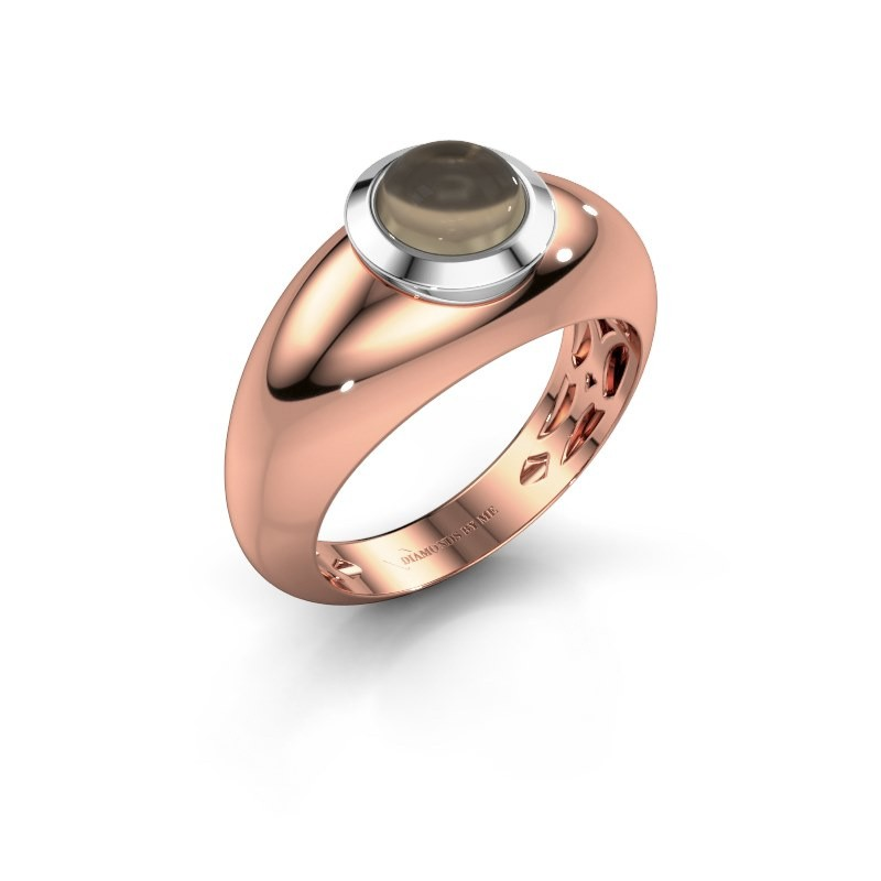 Ring Sharika 585 rose gold smokey quartz 6 mm