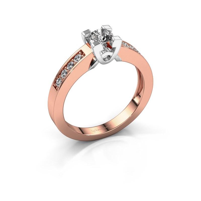 Verlovingsring Nina 2 585 rosé goud zirkonia 4.2 mm