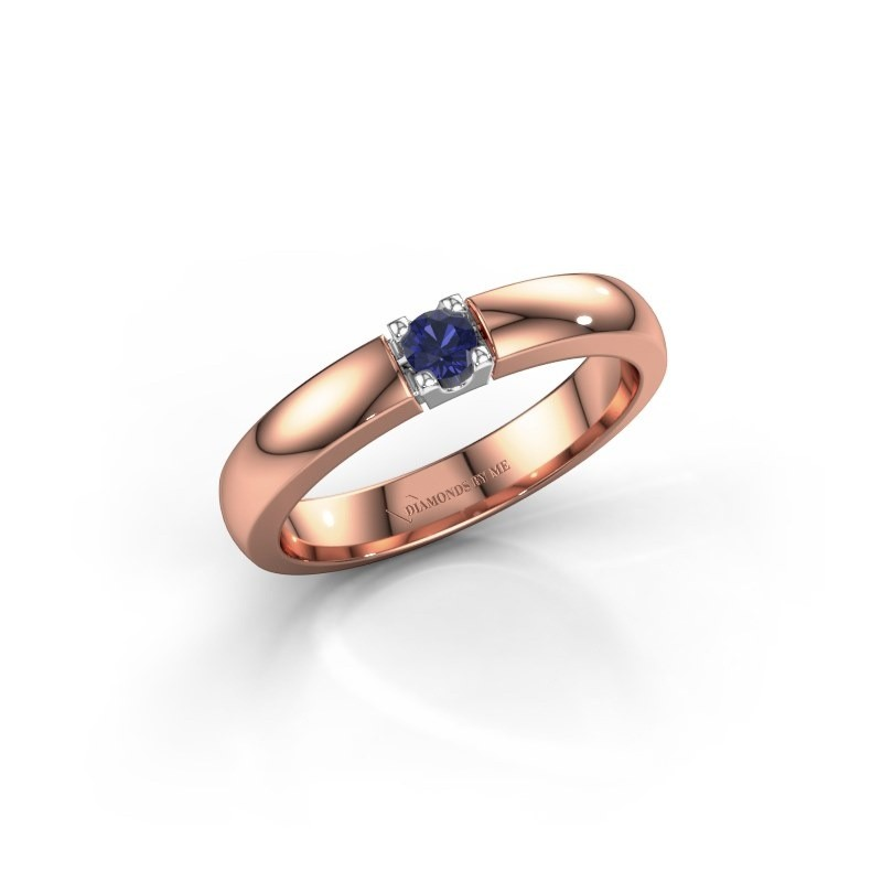 Engagement ring Rianne 1 585 rose gold sapphire 3 mm
