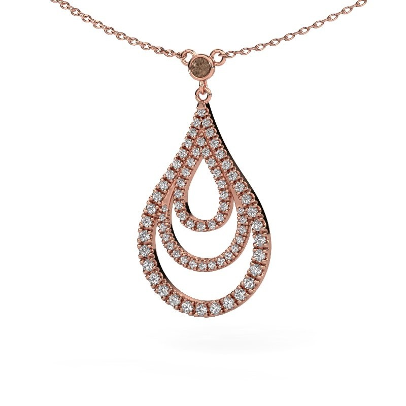 Hanger Delpha 375 rosé goud bruine diamant 0.487 crt
