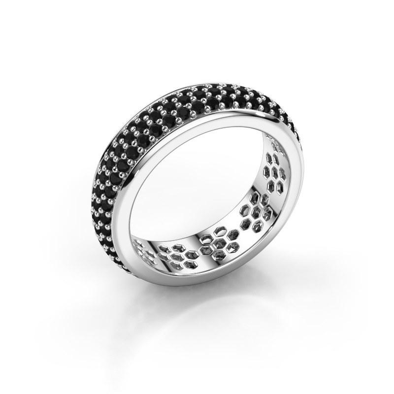 Ring Tara 585 witgoud zwarte diamant 1.584 crt