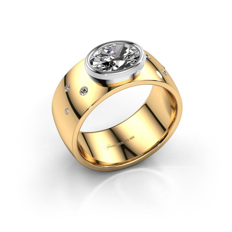 Ring Wilma 2 585 goud zirkonia 8x6 mm