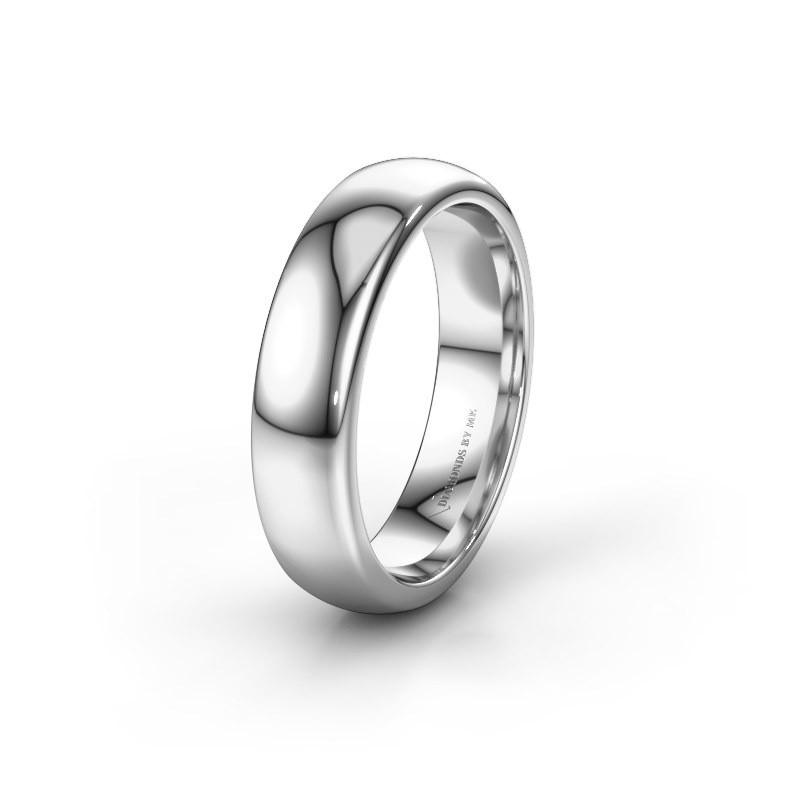 Wedding ring WH1003M26C 585 white gold ±6x2.2 mm