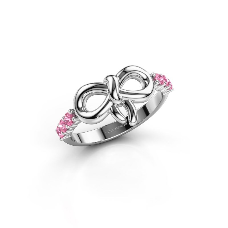 Ring Olympia 950 platina roze saffier 2.2 mm