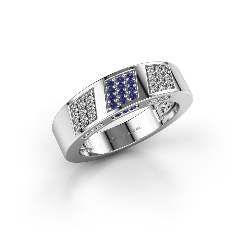 Ring Jessika 585 white gold sapphire 1.1 mm