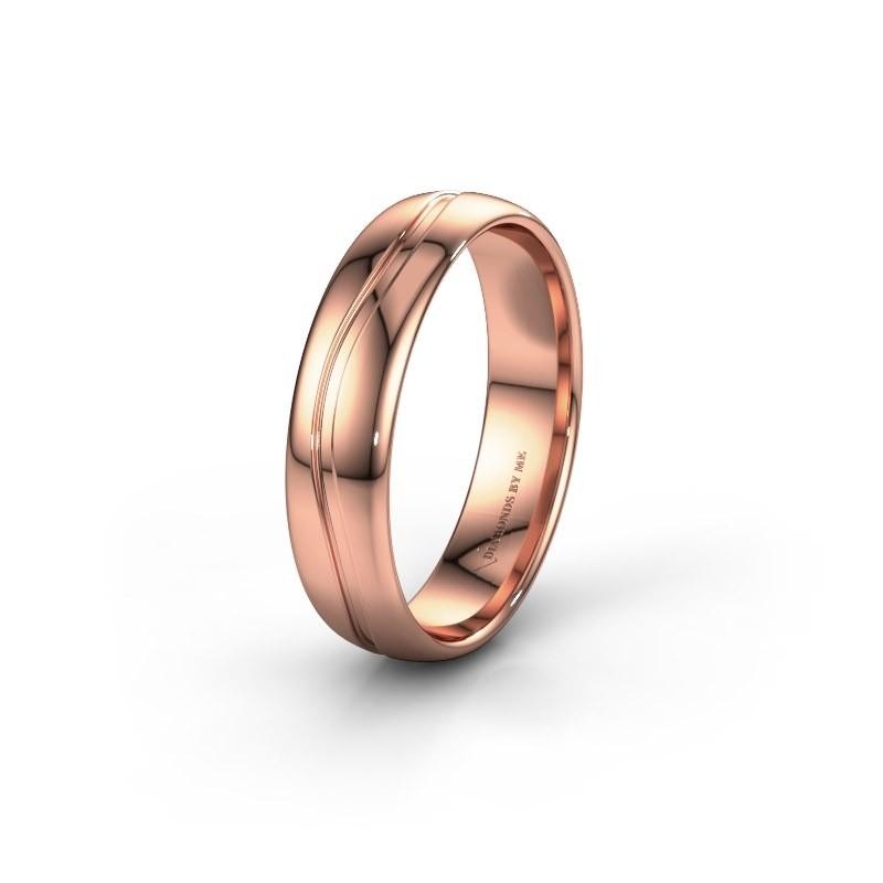 Trouwring WH0905M35X 585 rosé goud ±5x1.5 mm