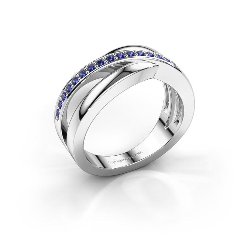 Ring Colette 925 zilver saffier 1.3 mm