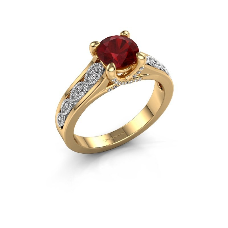 Engagement ring Clarine 585 gold ruby 6.5 mm