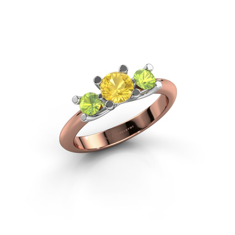 Ring Mirthe 585 rose gold yellow sapphire 5 mm