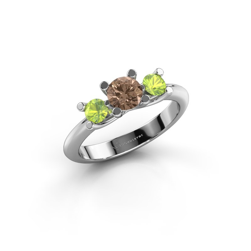 Ring Mirthe 950 Platin Braun Diamant 0.50 crt