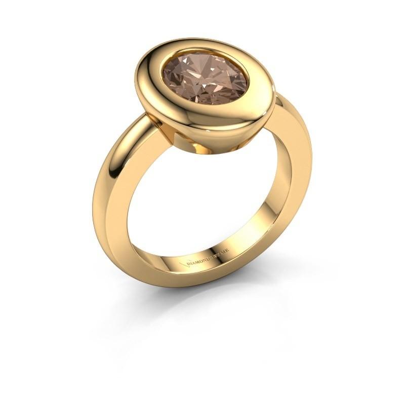 Ring Selene 1 585 goud bruine diamant 1.80 crt