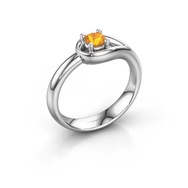 Ring Fabienne 925 zilver citrien 4 mm