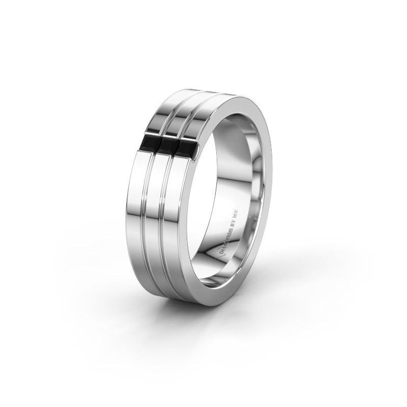 Ehering WH0428L16BP 925 Silber Schwarz Diamant ±6x2 mm