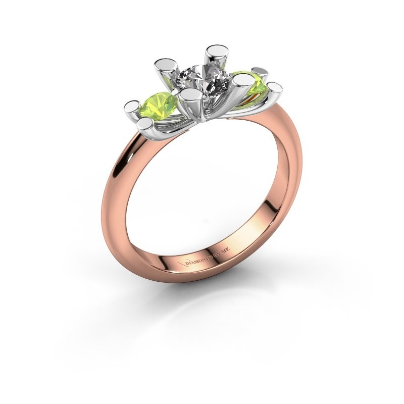 Bague Mirthe 585 or rose diamant synthétique 0.50 crt