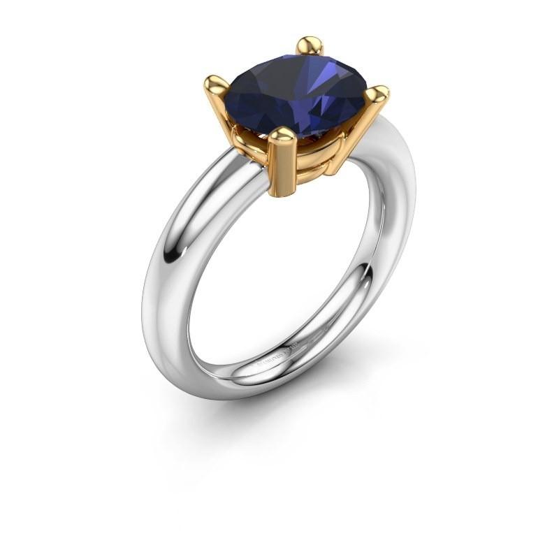 Ring Janiece 585 Weißgold Saphir 10x8 mm
