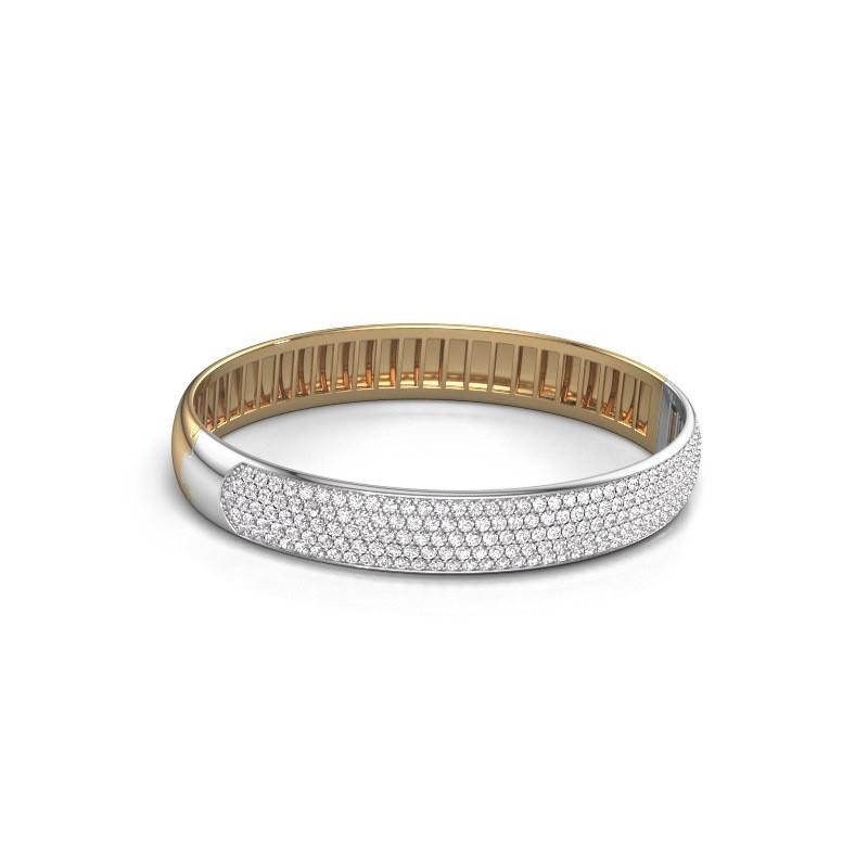 Slavenarmband Emely 10mm 585 goud zirkonia 1.7 mm