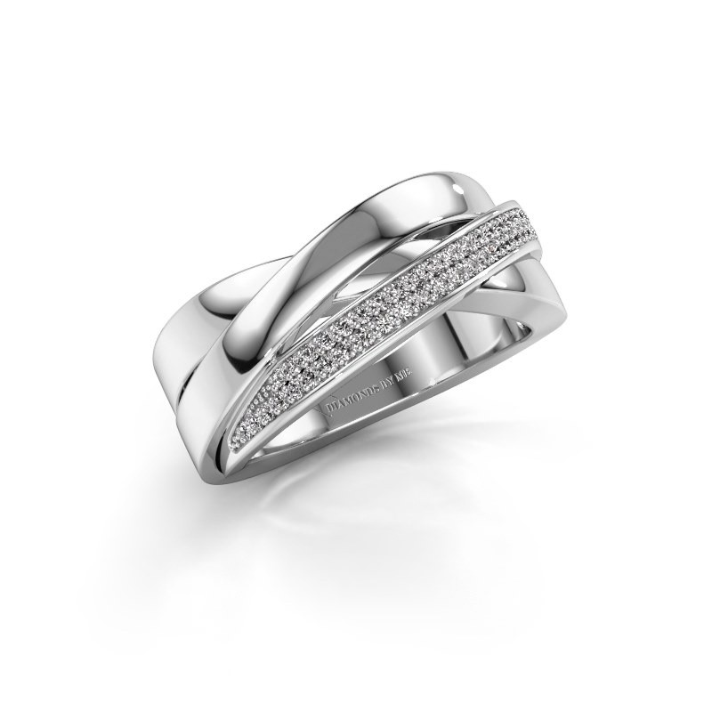 Ring Katherina 585 witgoud lab-grown diamant 0.255 crt