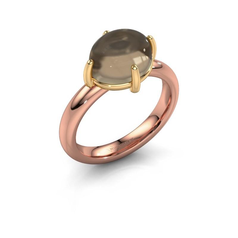 Ring Melodee 585 rose gold smokey quartz 10x8 mm