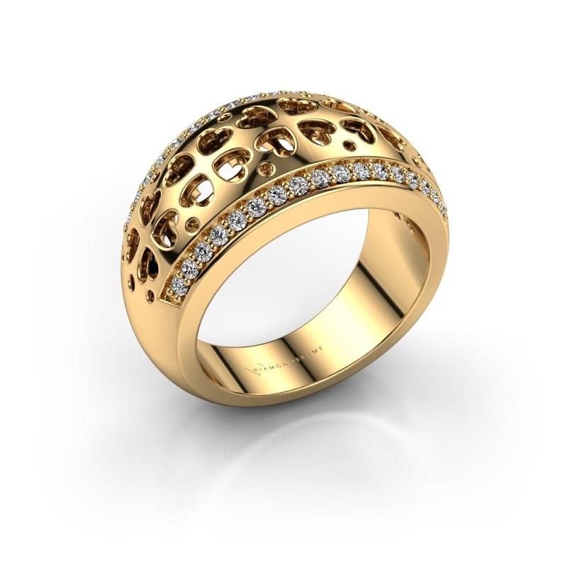 Ring Tirza 375 goud zirkonia 1.3 mm