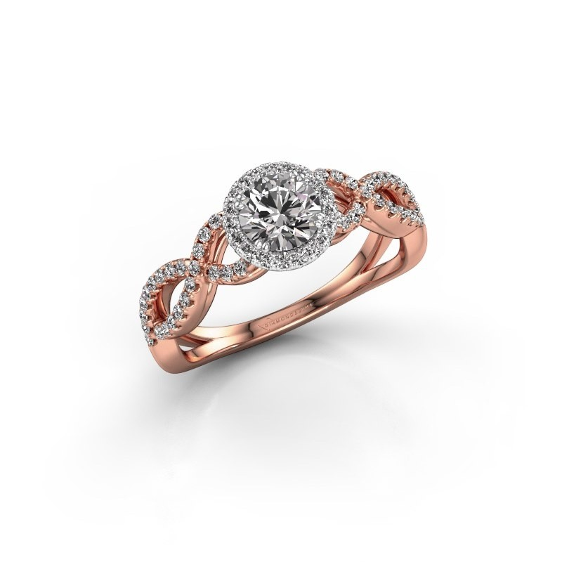 Engagement ring Dionne rnd 585 rose gold lab-grown diamond 0.82 crt