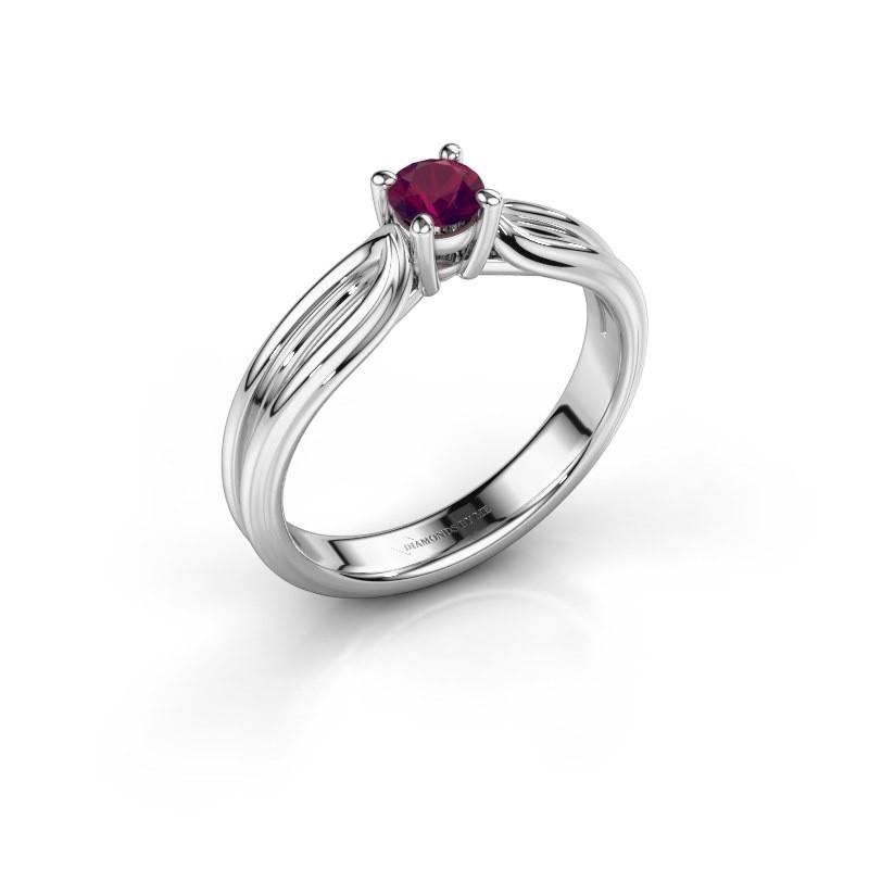 Engagement ring Antonia 1 925 silver rhodolite 4 mm