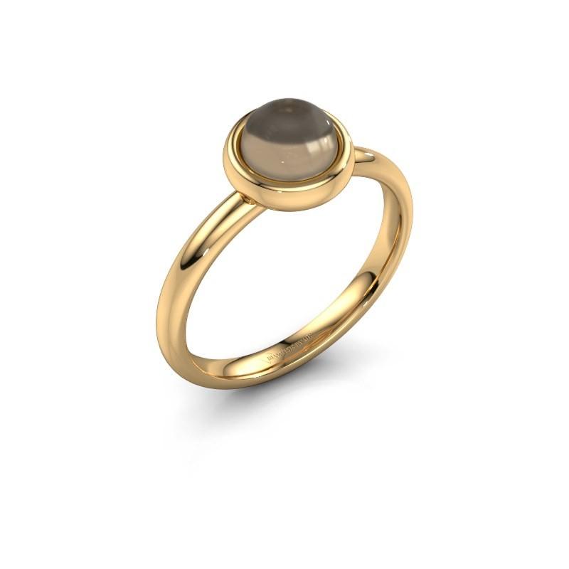 Ring Blossom 585 Gold Rauchquarz 6 mm