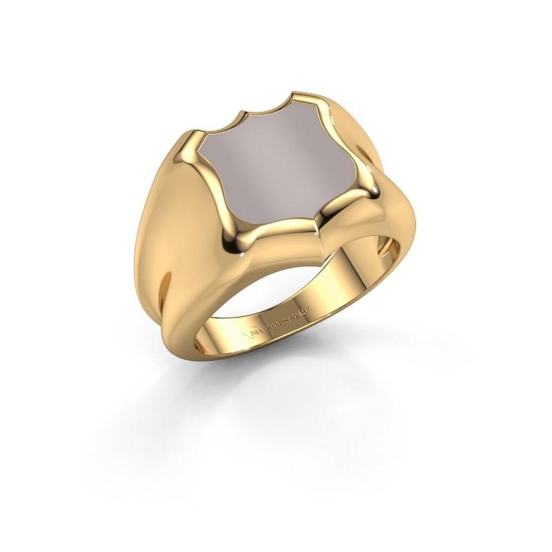 Signet ring Nevin 585 gold red sardonyx 12x12 mm