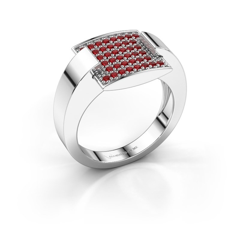 Ring Silke 925 zilver robijn 1.2 mm
