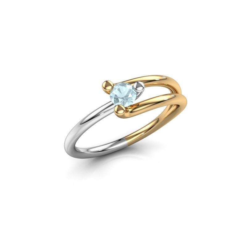 Ring Roosmarijn 585 Gold Aquamarin 3.7 mm