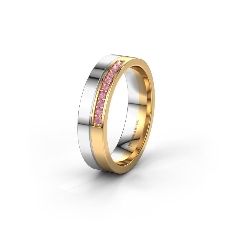 Wedding ring WH0213L15AP 585 white gold pink sapphire ±0.20x0.07 in
