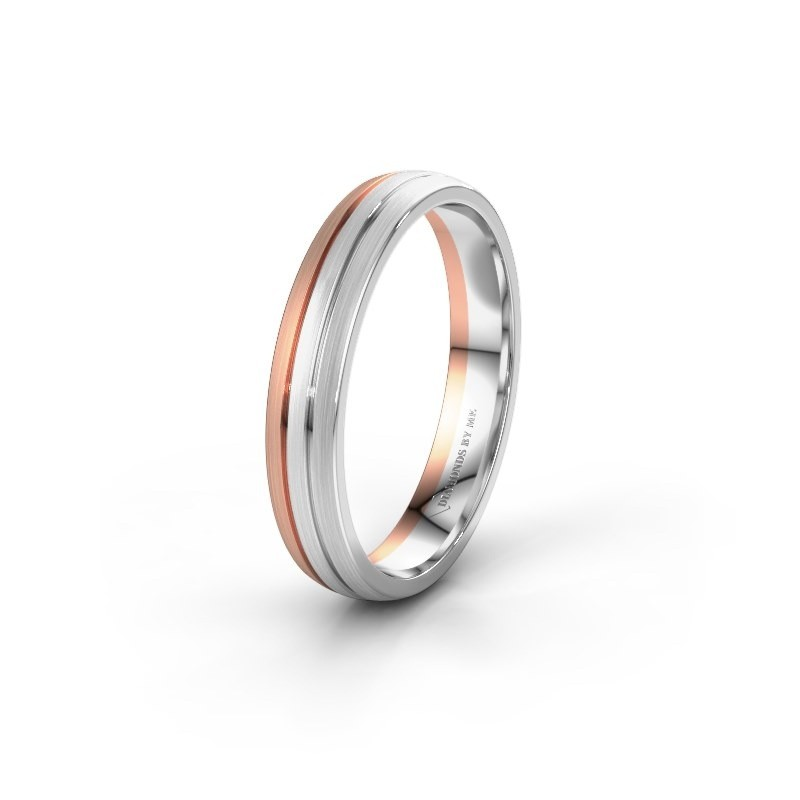 Wedding ring WH0400M24AM 585 rose gold ±4x1.7 mm