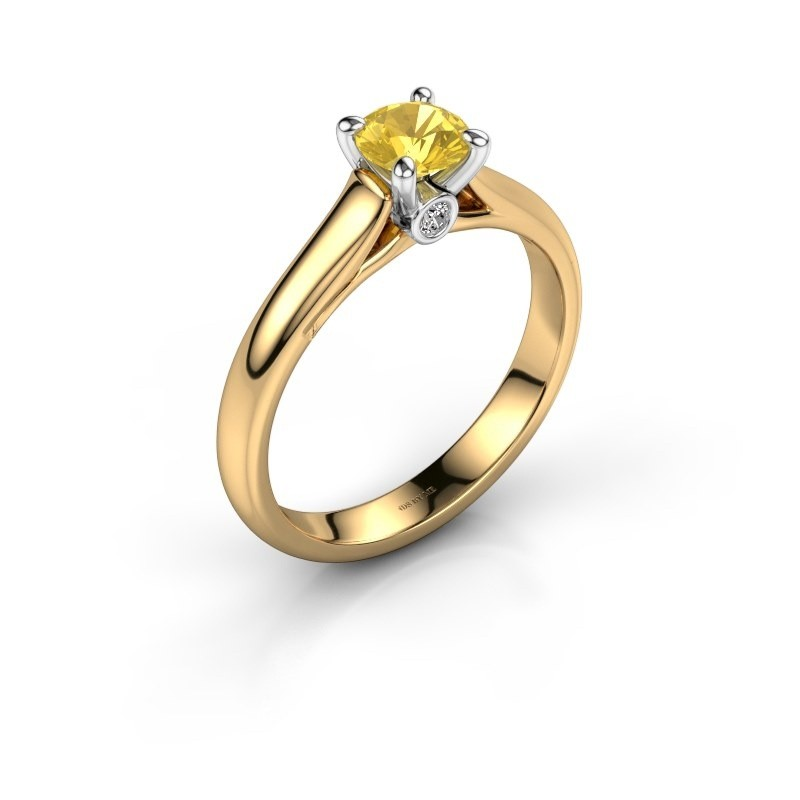Engagement ring Valorie 1 585 gold yellow sapphire 5 mm