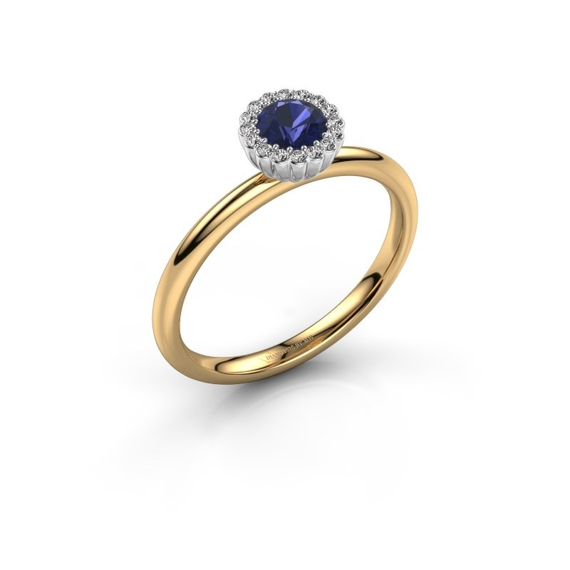Engagement ring Queen 585 gold sapphire 4.2 mm
