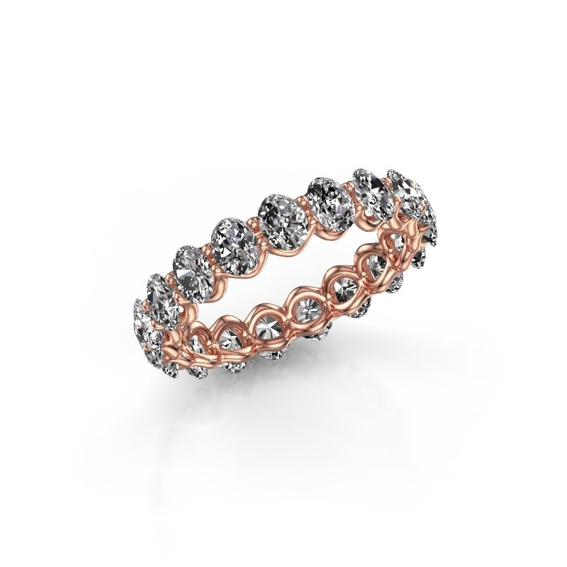 Ring Kirsten OVL 4x3 375 Roségold Lab-grown Diamant 2.85 crt