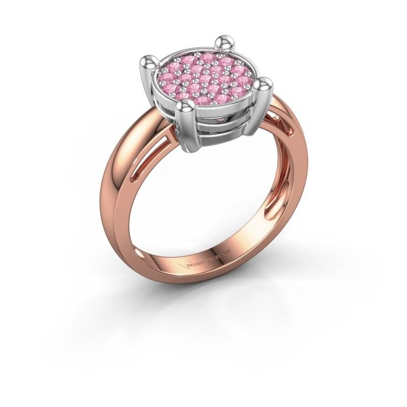 Ring Dina 585 Roségold Pink Saphir 1.6 mm