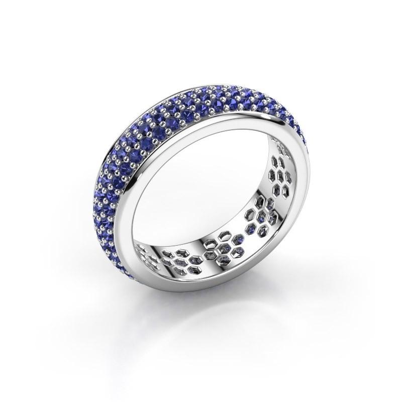 Ring Tara 585 Weißgold Saphir 1.3 mm