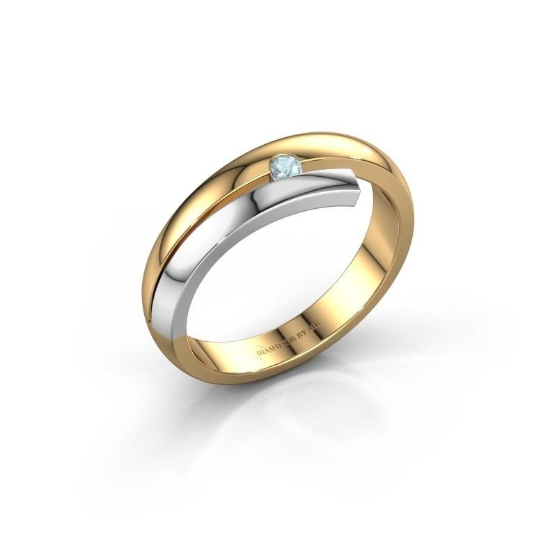 Ring Shela 585 goud aquamarijn 2.2 mm