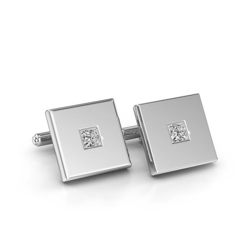 Cufflinks Givanti 585 white gold diamond 0.80 crt